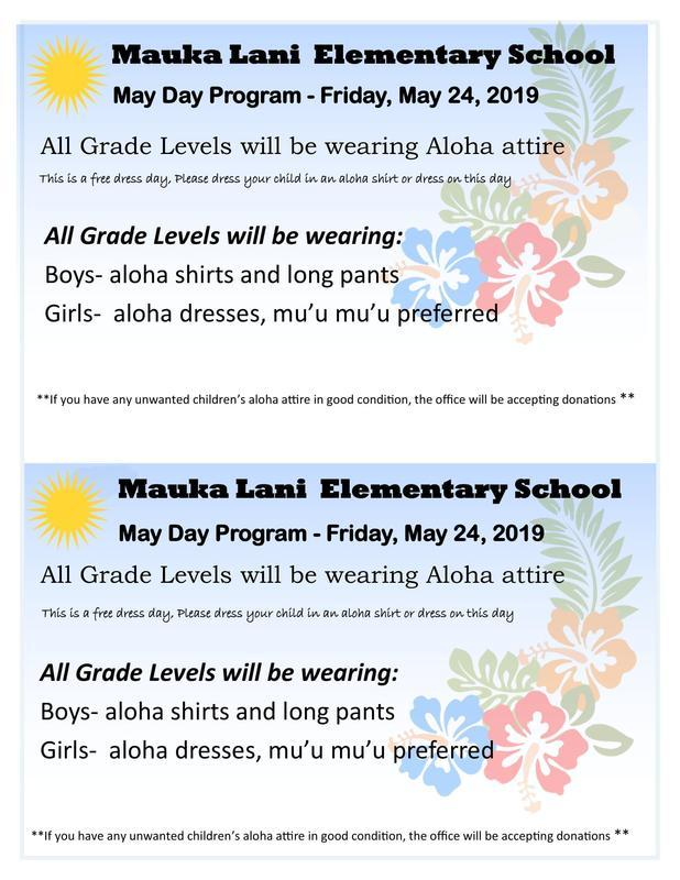 Students May Day Attire for May 24, 2019 Thumbnail Image