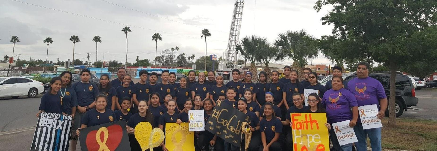 AMJH Jr Officers GO GOLD to bring awareness to Childhood Cancer