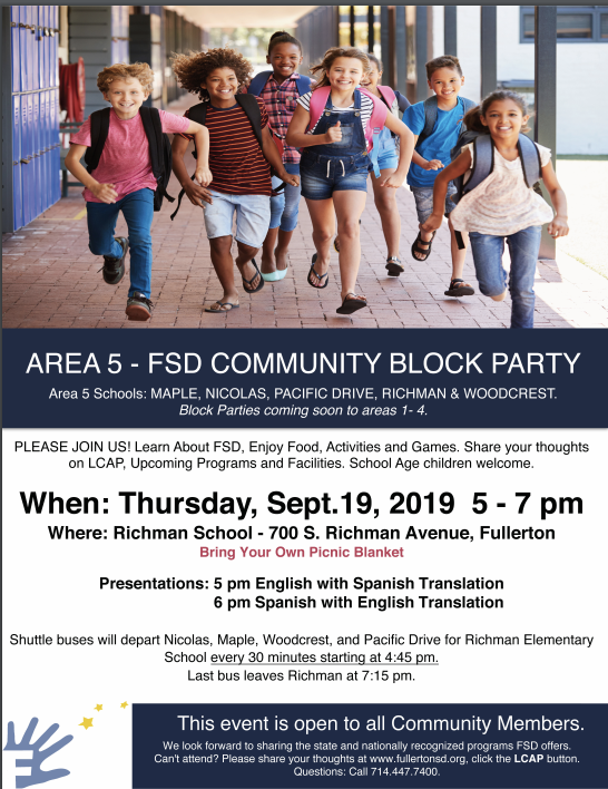 Community Block Party info