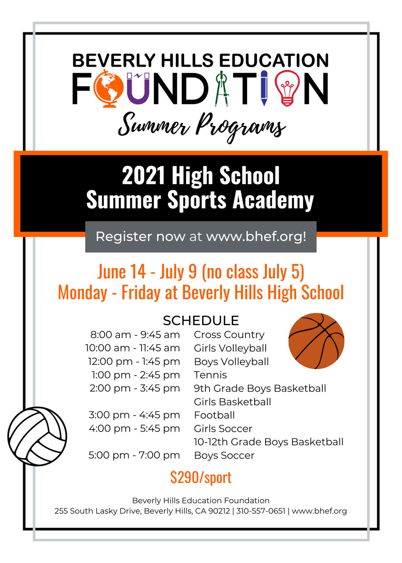 High School Sports Schedule