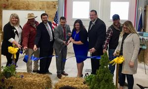 ribbon cutting barn