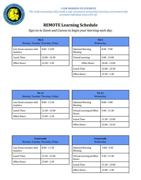 CAIR Remote Learning Schedules.png