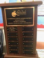 LCSD Attendance Challenge Trophy