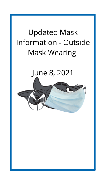 bomber wearing a mask with text - updated mask information outside mask wearing