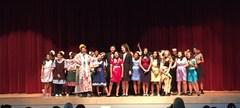 JMS Drama students and their final word to the audience after their final performance of Annie.