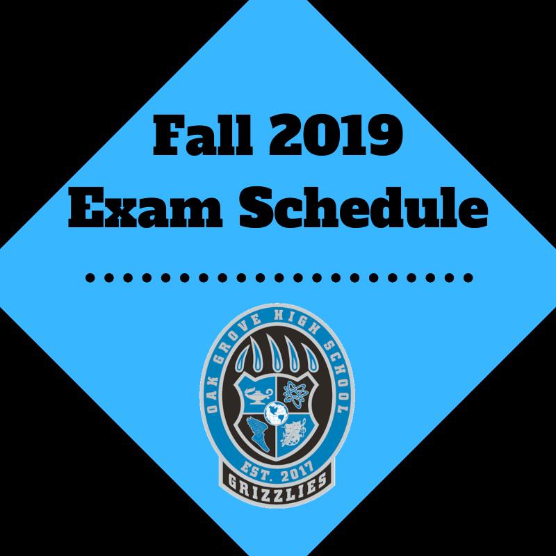 Fall 2019 Exam Schedule