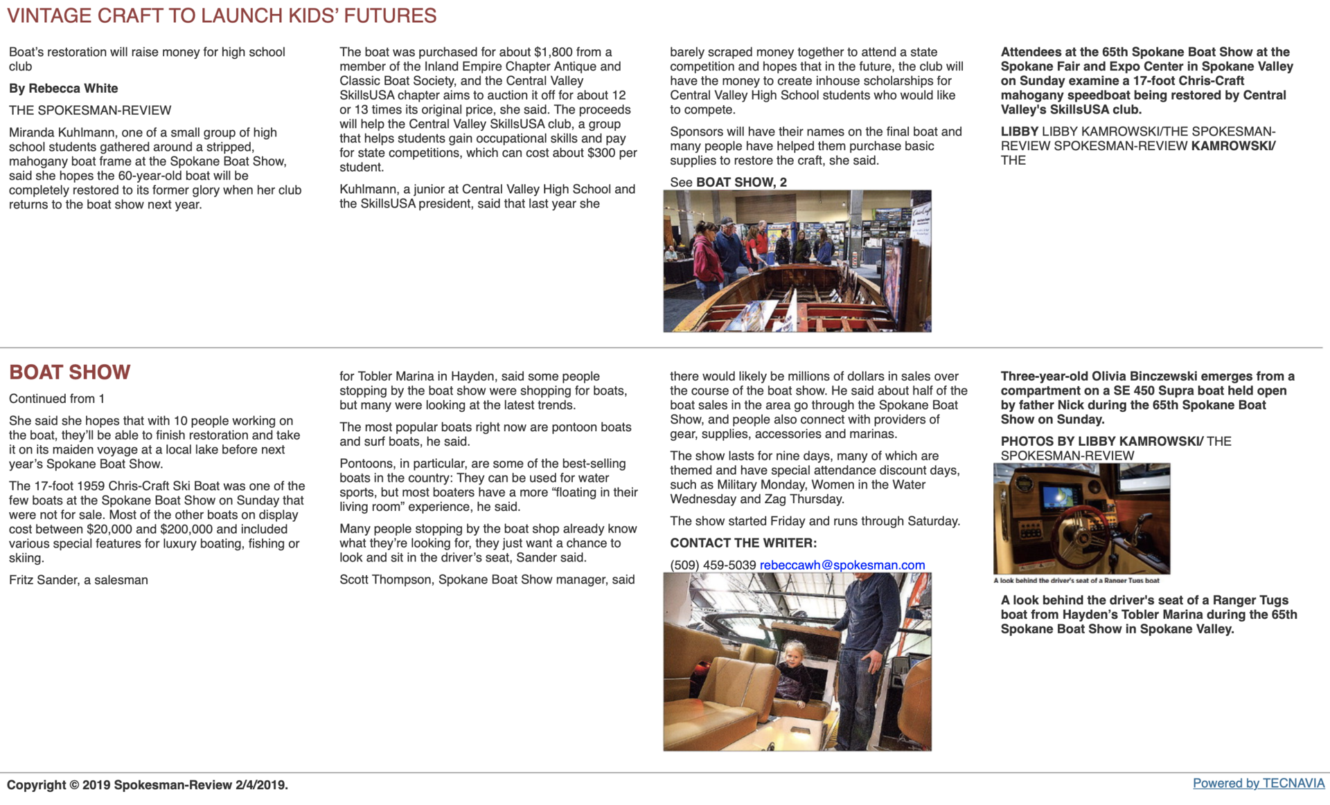 Boat show article