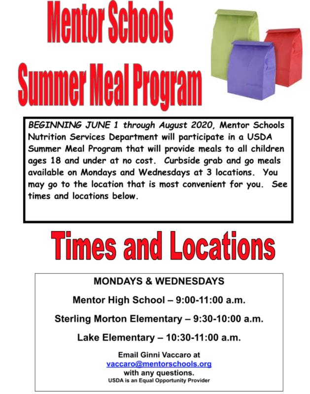 Summer meals info