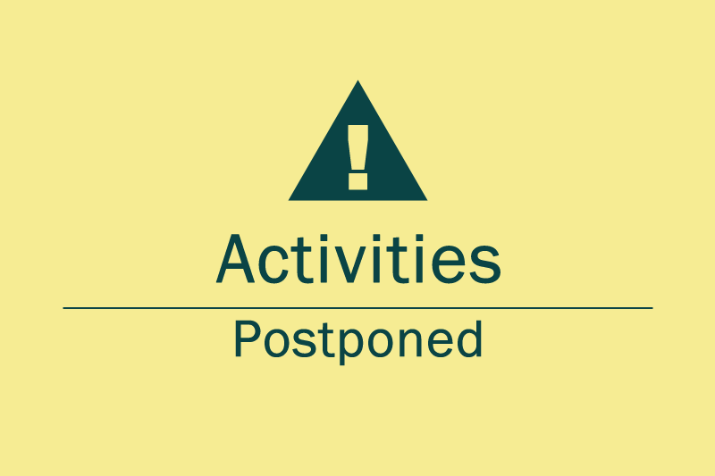 Image Activities Postponed