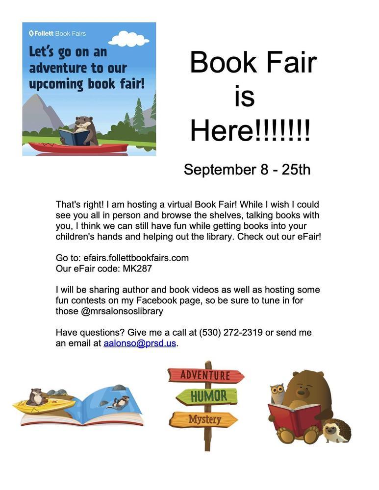 Virtual Book Fair Flyer