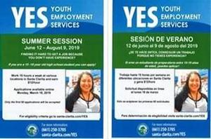 YES Summer flyer image