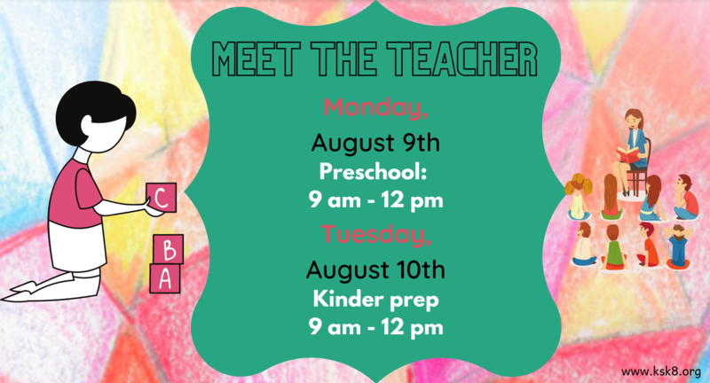 picture with meet the teacher information