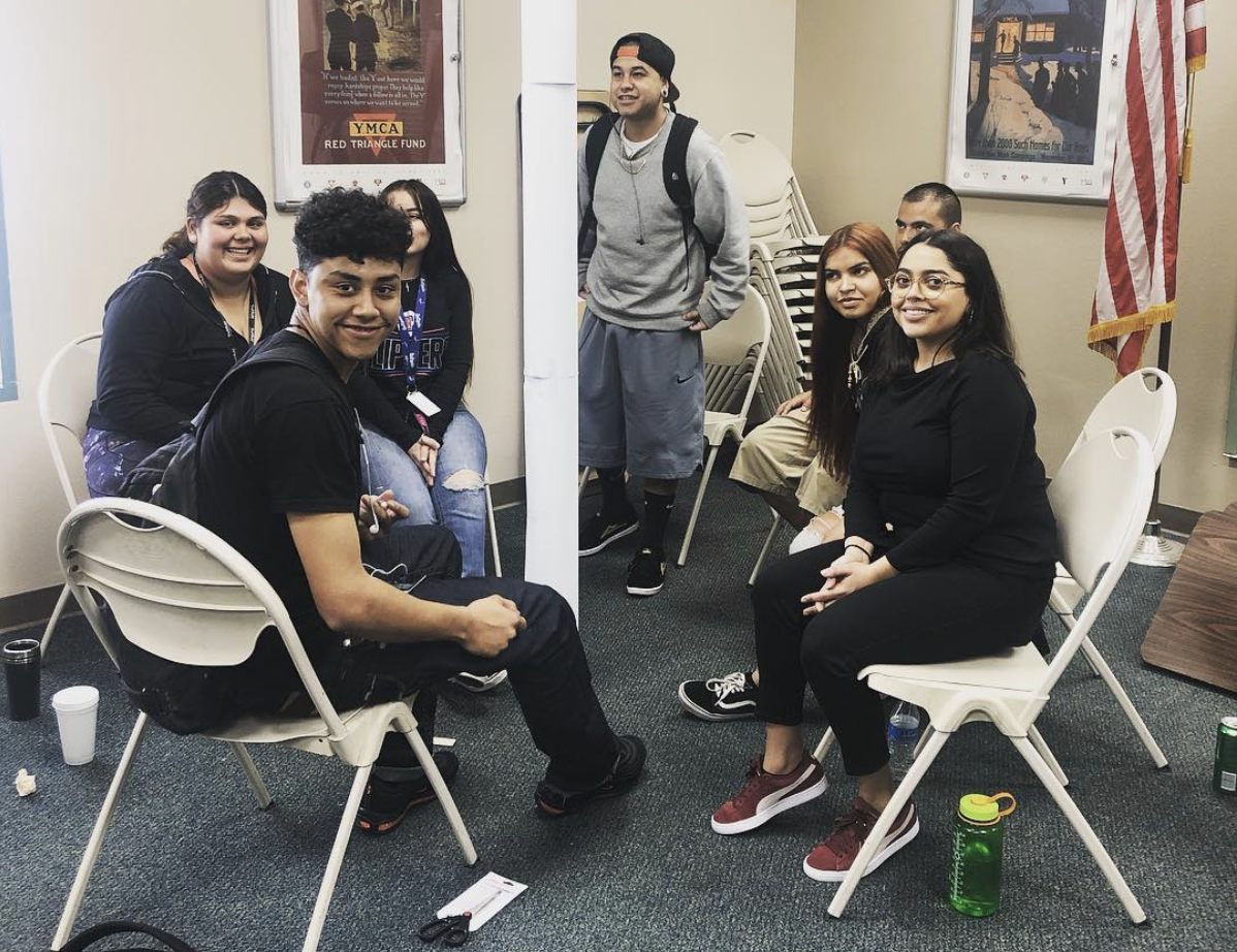 Whittier students sitting in chairs