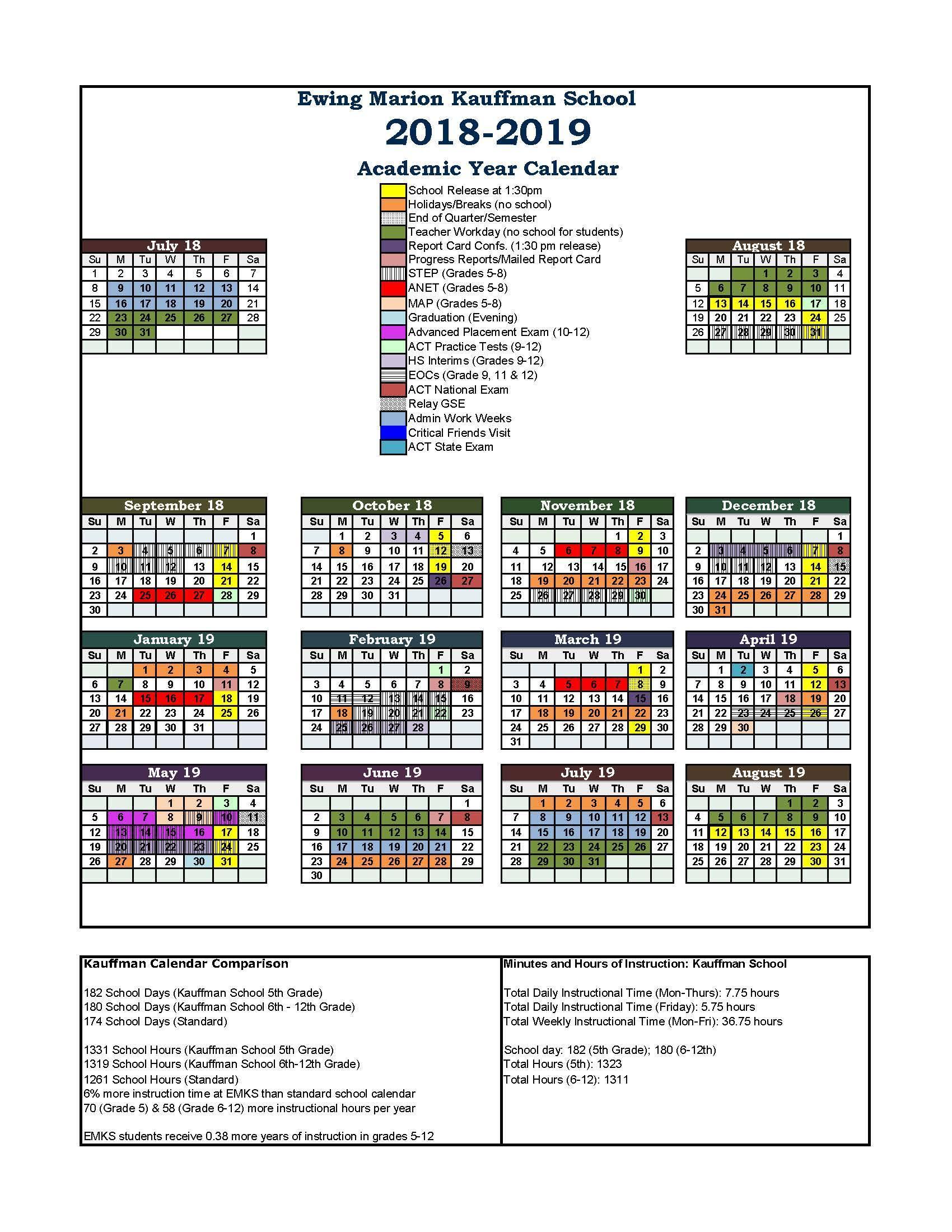 calendar emks 2018 2019 year long