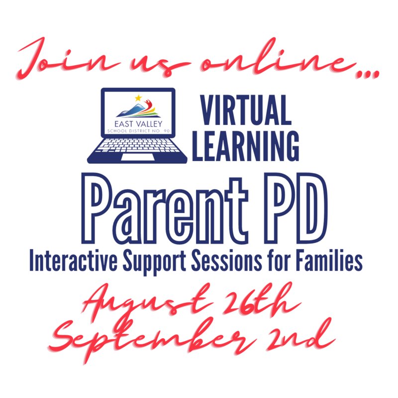 Join us online for virtual learning parent P D - Interactive support sessions for families on August 26th and September 2nd.