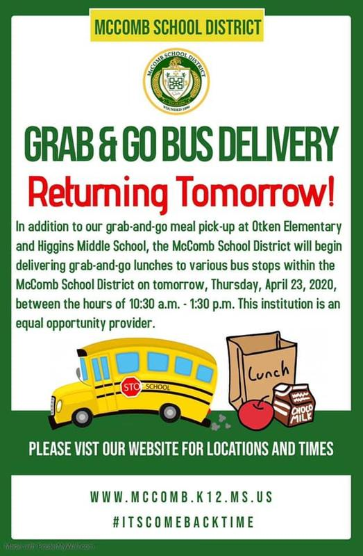 Grab and go bus delivery returns April 23, 2020