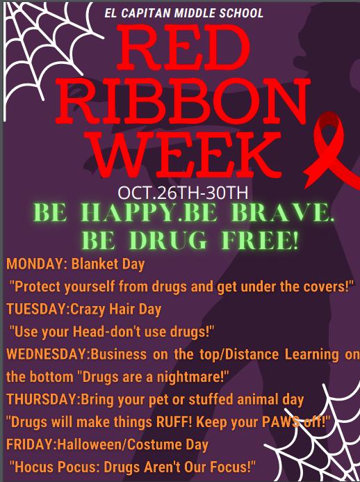 Red Ribbon Week Oct 26-30