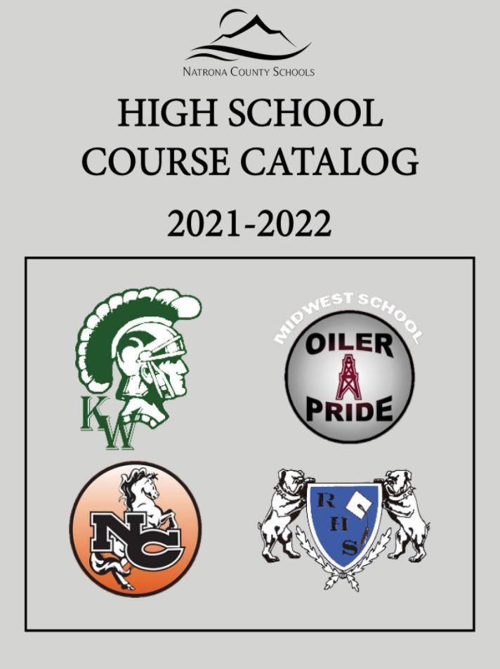 High School Course Catalog 21-22 cover