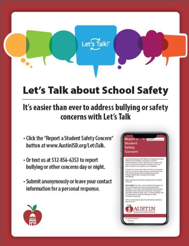Report School Safety Concern - English