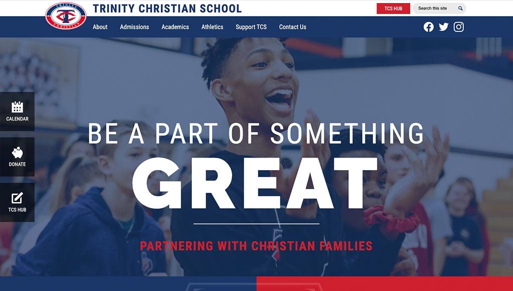 website for Trinity Christian School