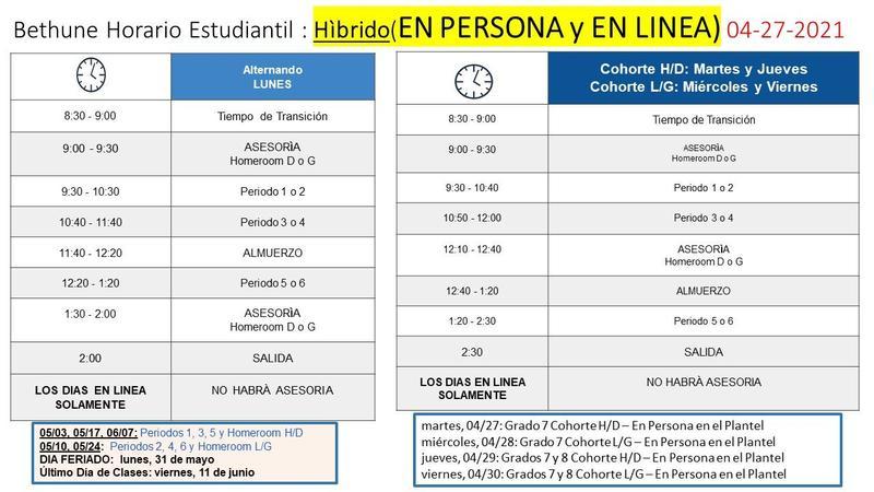 PAQUETE INFORMATIVO para INSTRUCCION HIBRIDO (EN PERSONA-EN LINEA) Featured Photo