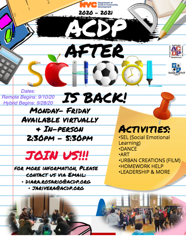 ACDP After school Starts Soon! Featured Photo