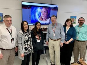 Mr. Locricchio, Piera DiGiulio, Camila Garcia, Dr. George Solter, Stephanie Stern, and Dr. Jared Keshishian