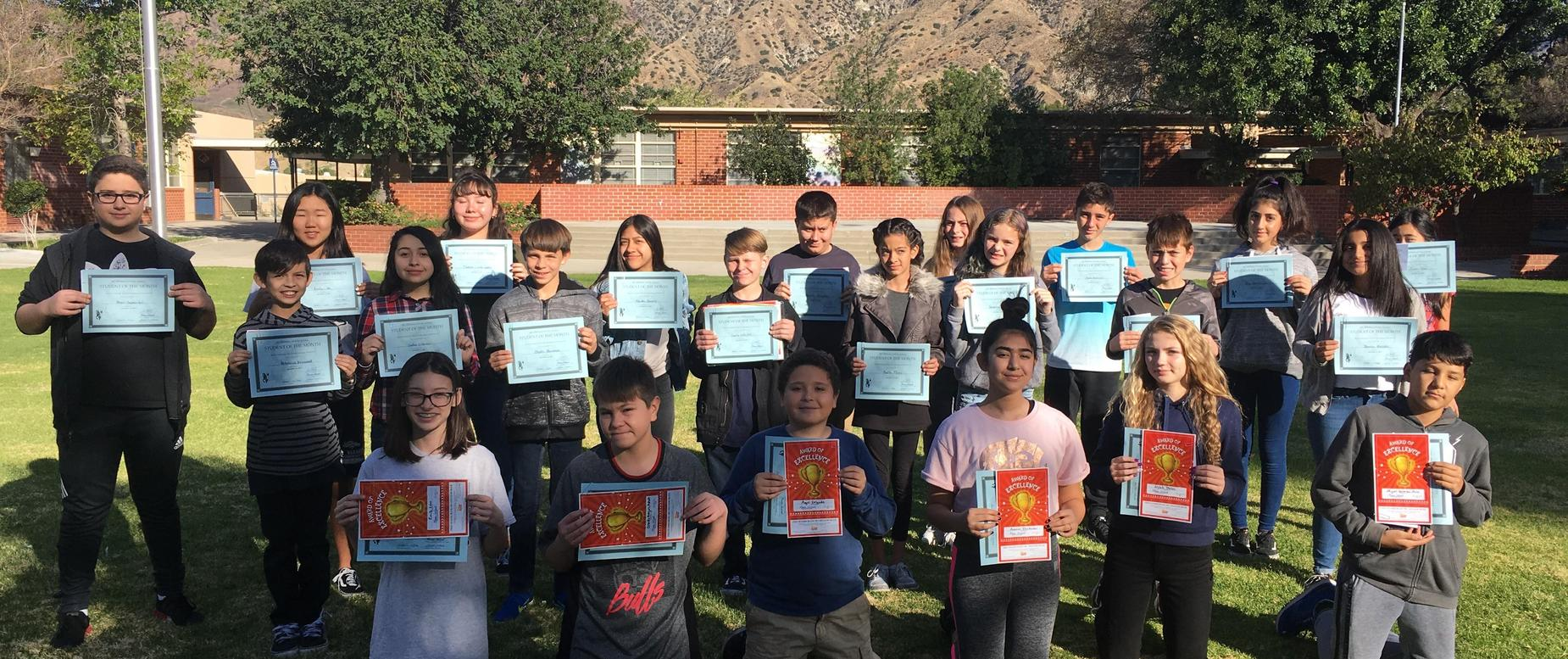 November/December 2017 Students of the month
