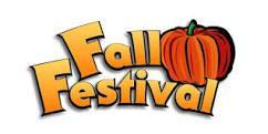 Fall Festival heading with leaves and a pumpkin.