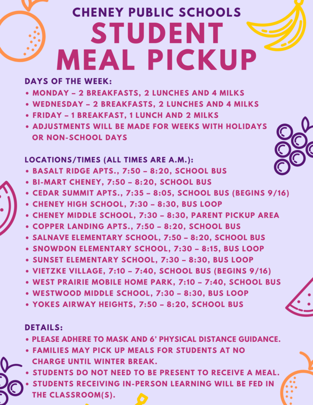 Nutrition Service Food times for Fall 2020 Thumbnail Image