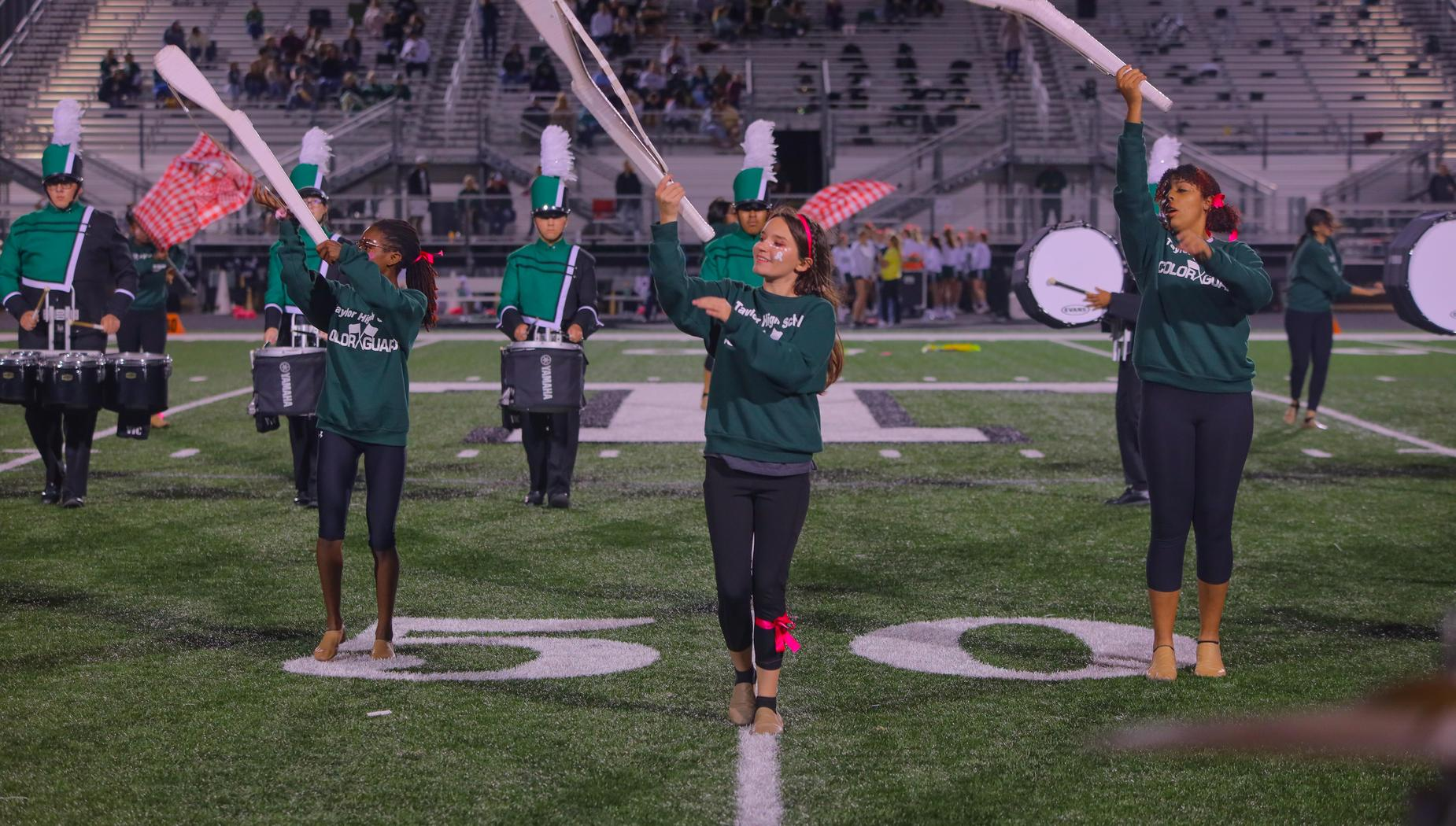 Color Guard at Halftime