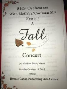 Orchestra's Fall Concert Thumbnail Image