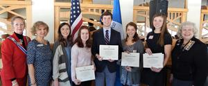 Thornapple Kellogg High School senior Turner Halle earns the Good Citizens Award from the Grand Rapids chapter of the DAR.