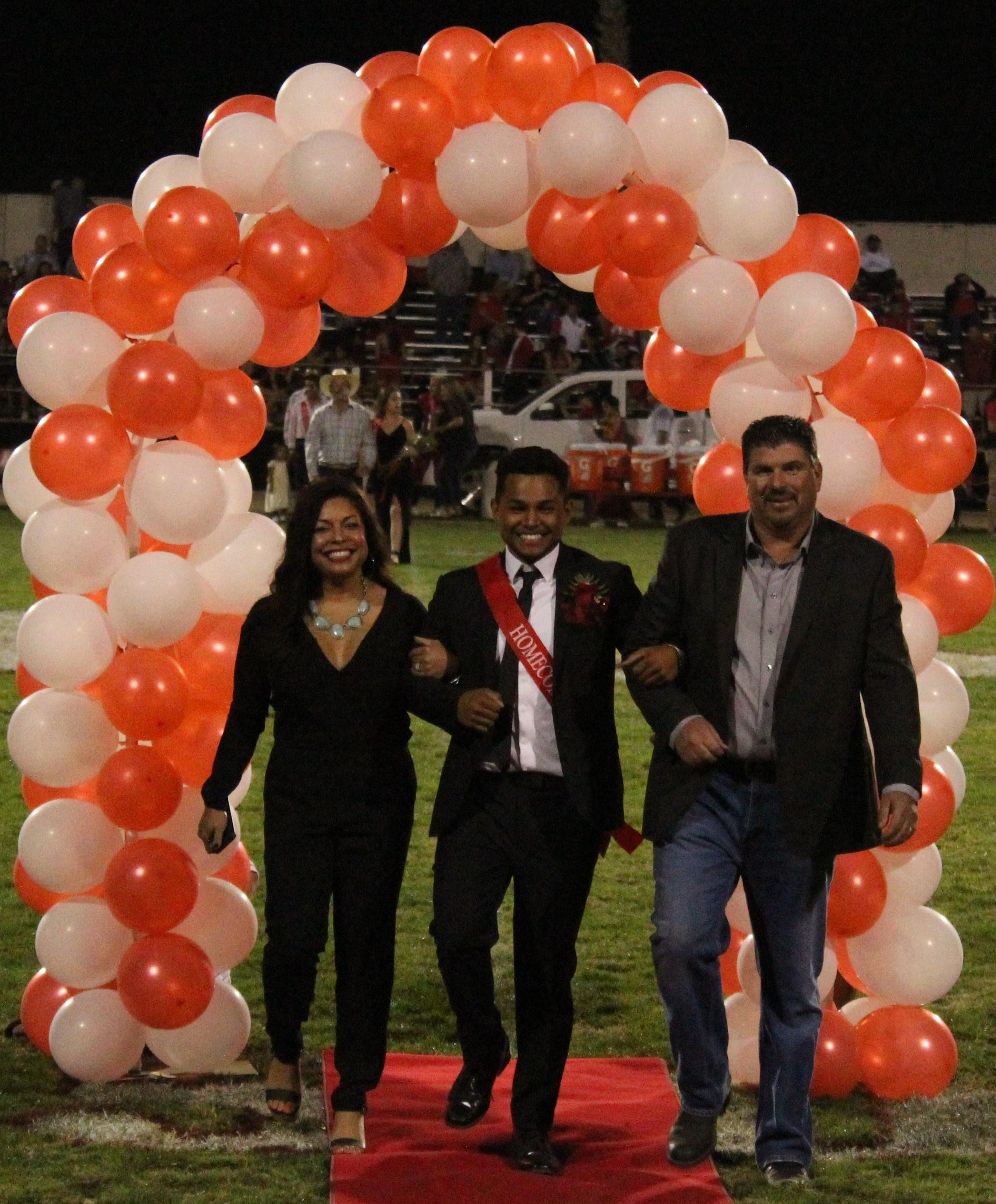 Students and parents enjoying Homecoming activities