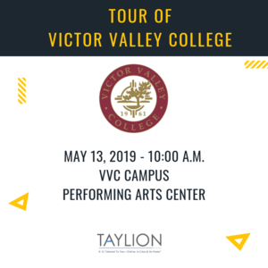 Victor Valley College Tour Flyer
