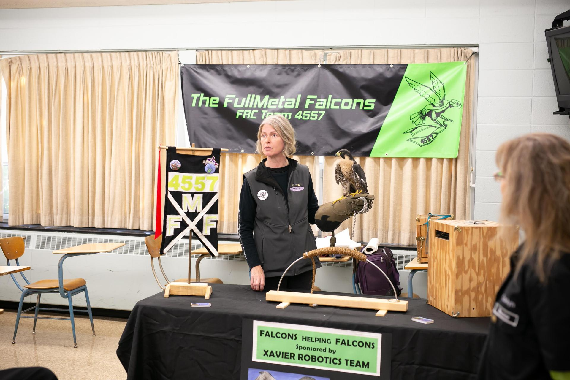 A live Falcon at Open House