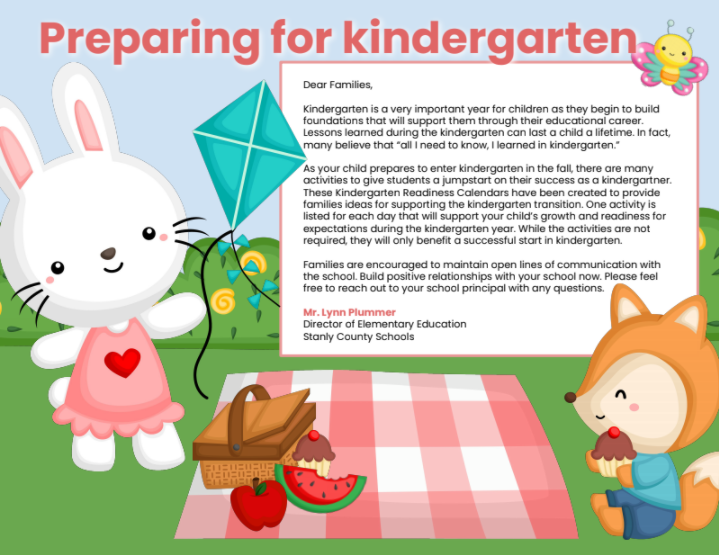 Kindergarten readiness letter