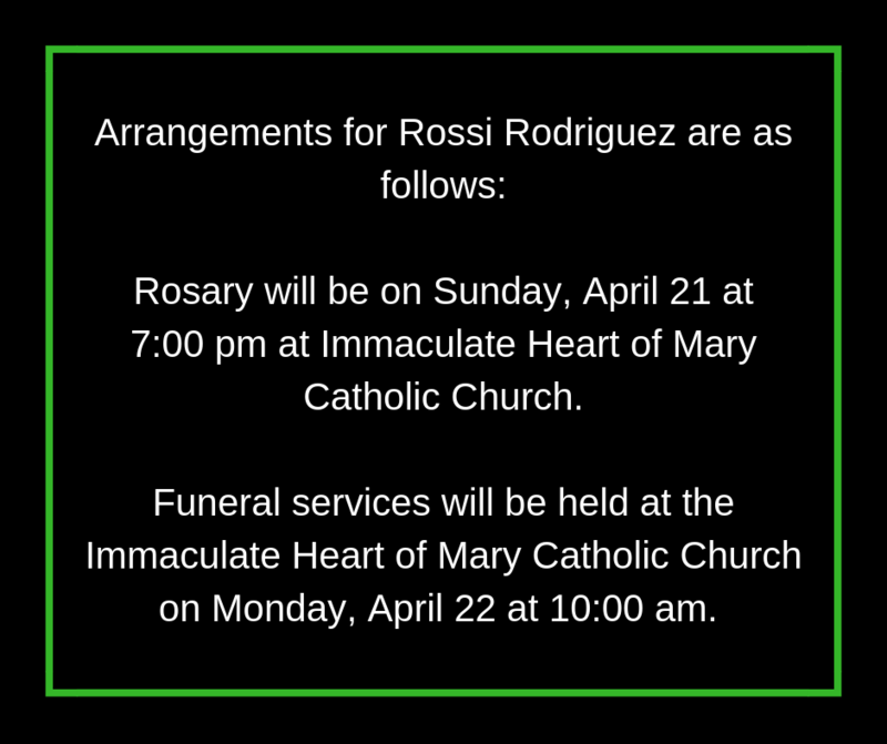 Arrangements for Rossi Rodriguez Thumbnail Image