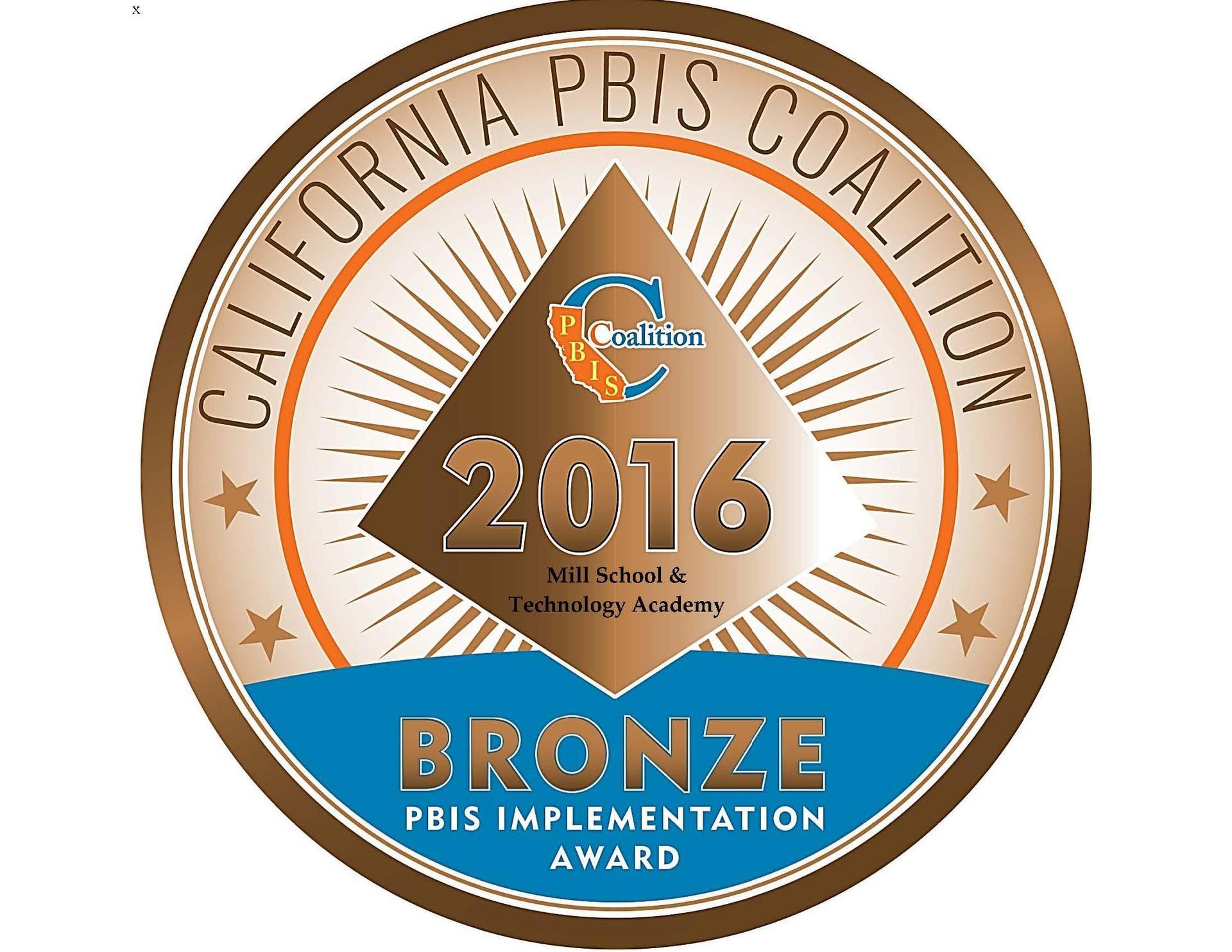 2016 PBIS Bronze Award Logo