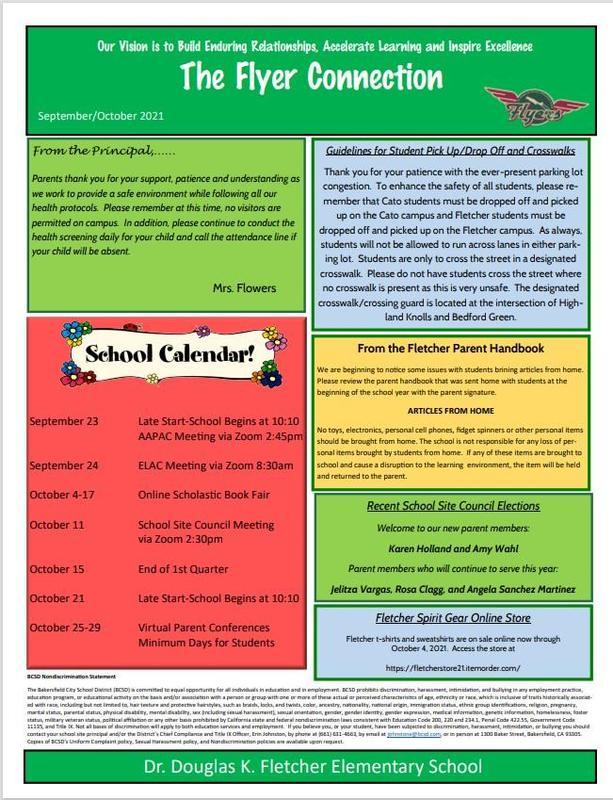 Flyer newsletter September/October 2021