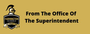 From The Office Of The Superintendent
