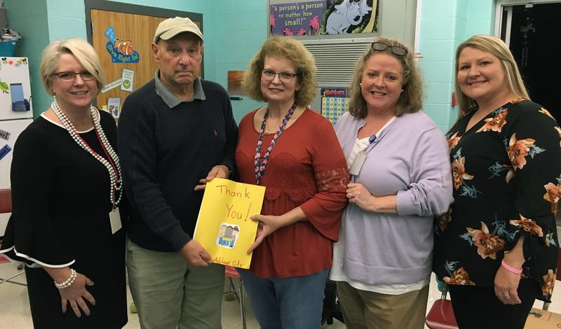Dr. Alan Kulkin donated funds to allow the district to purchase laptops for Pre-K students.