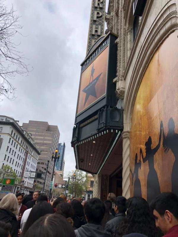 Hamilton at the Orpheum Theater in San Francisco