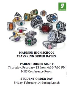 Class Ring Order Dates