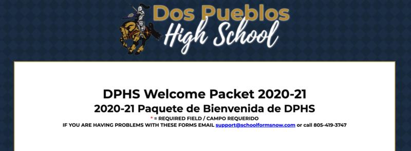 DPHS Welcome Packet 2020-21 / 2020-21 Paquete de Bienvenida de DPHS Featured Photo