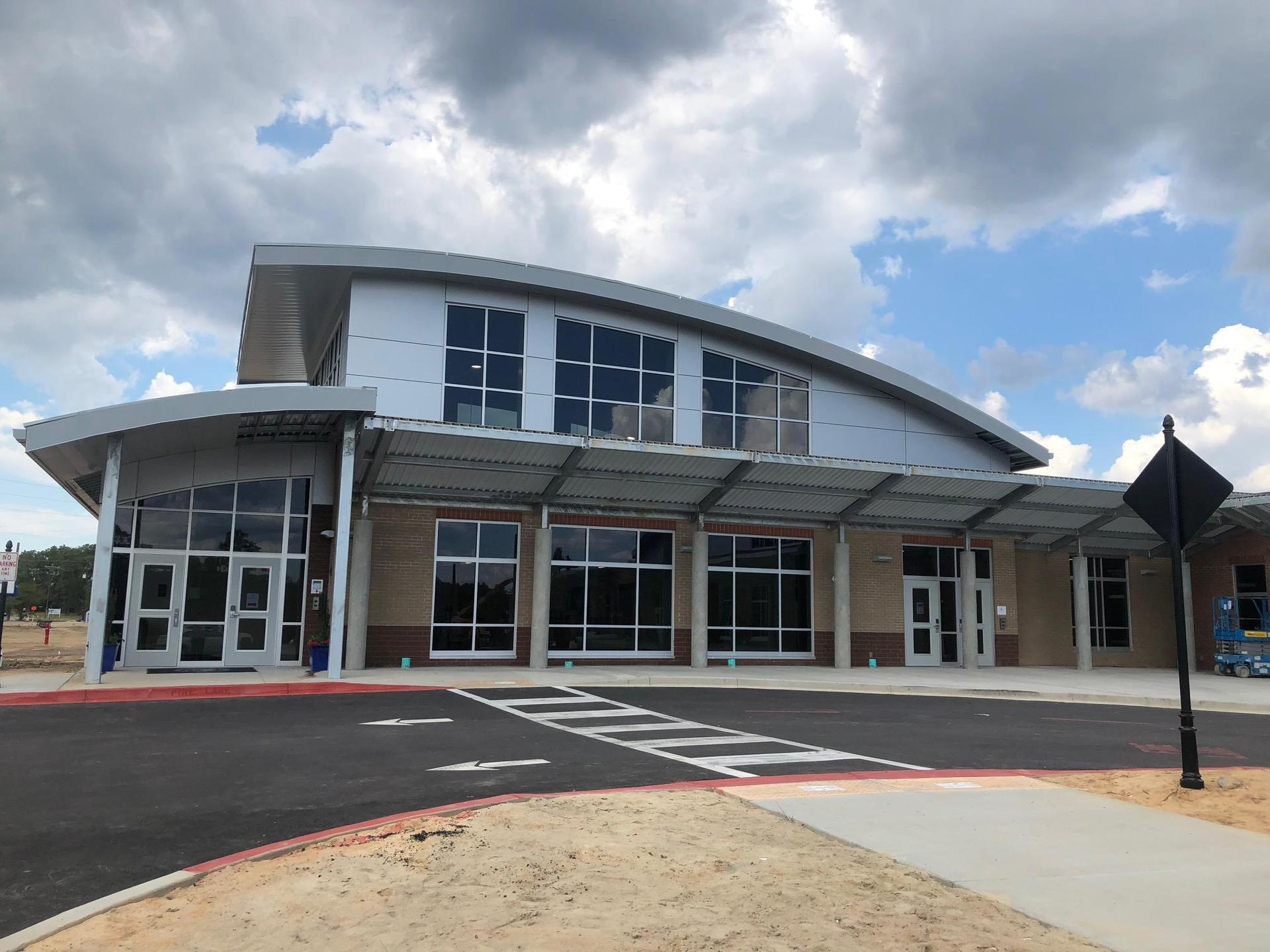 New front entrance at Springdale Elementary