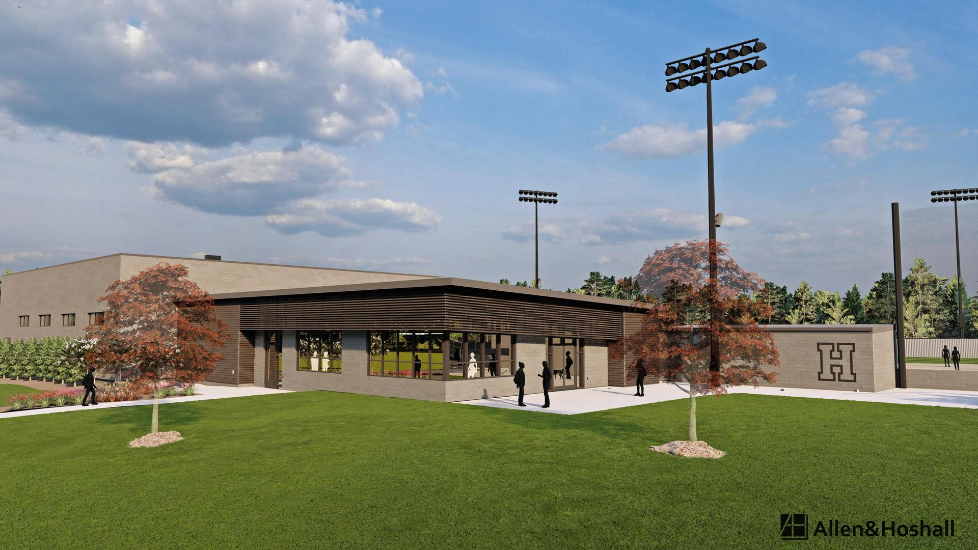 Rendering of the softball field