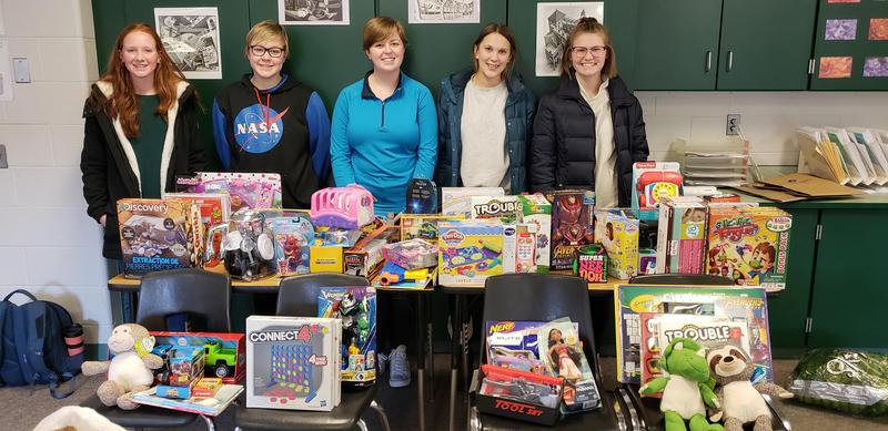 TKHS NHS students collect toys for Barry County kids.