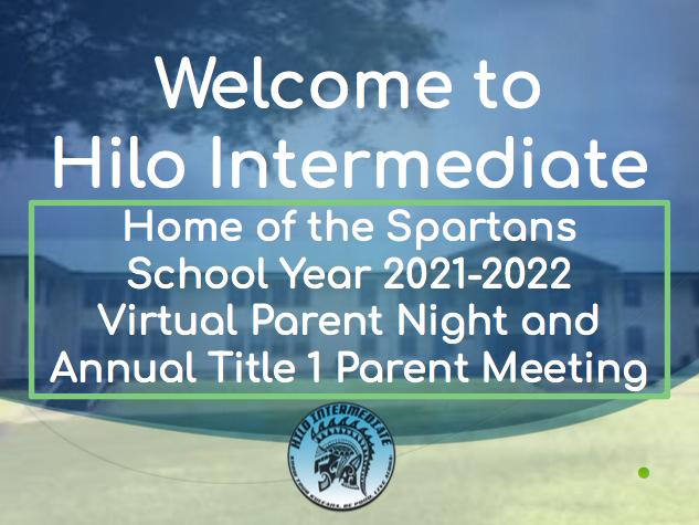 Virtual Parent Night Slideshow, Questions & Virtual Tour Featured Photo