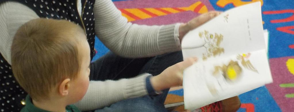 TES student being read to.